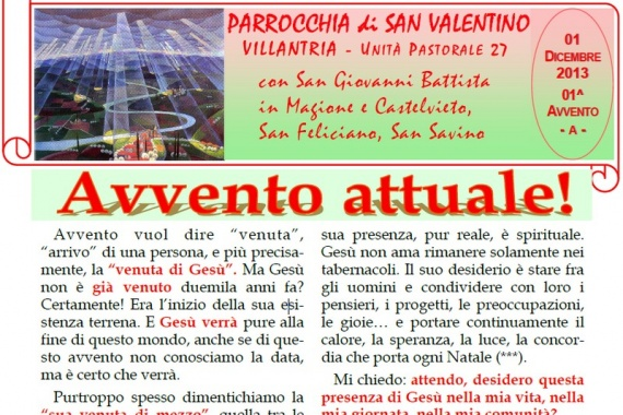 01 Dicembre 2013 1^ AVVENTO/A