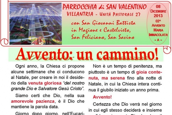 08 Dicembre 2013 2^ AVVENTO/A: Maria Immacolata