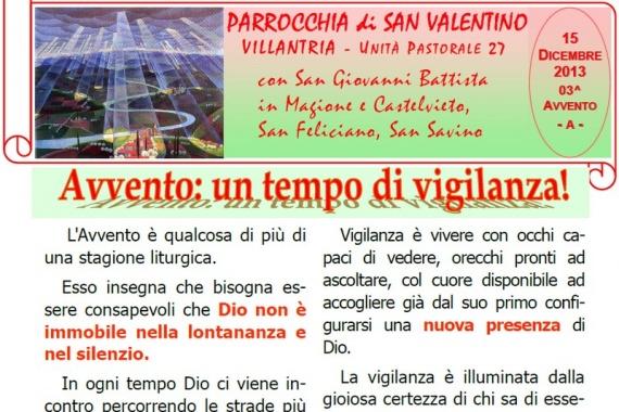 15 Dicembre 2013 3^ AVVENTO/A
