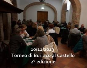 Torneo di Burraco al castello 2° edizione