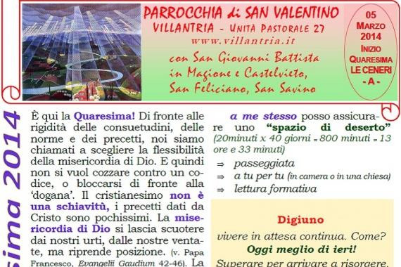 05.03.2014 Inizio Quaresima – Le Ceneri