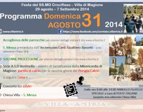 Programma SS.Mo Crocifisso – Villa di Magione 29 Agosto – 7 Settembre 2014