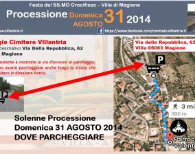 Solenne Processione 31 Agosto 2014: Dove parcheggiare