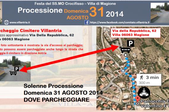 Solenne Processione 31/08/2014: Dove parcheggiare