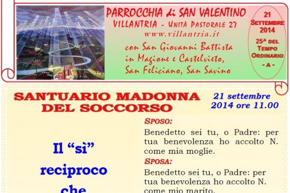 21.09.2014 – 25^ Tempo Ordinario