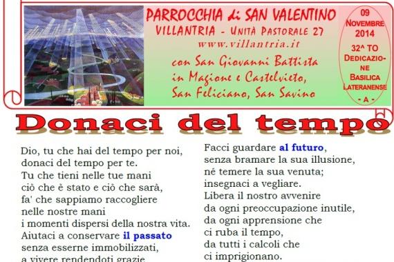 16.11.2014 – 33^ Tempo Ordinario: Settimanale da consultare e stampare