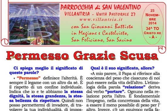 23.11.2014 – 34^ Tempo Ordinario Cristo Re: Settimanale da consultare e stampare