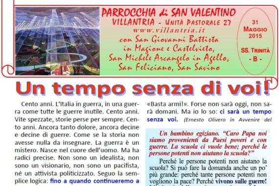31.05.2015 – SS Trinità: Settimanale da consultare e stampare