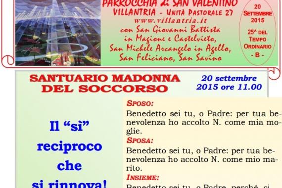 20.09.2015 – 25^ Tempo Ordinario: Settimanale da consultare e stampare