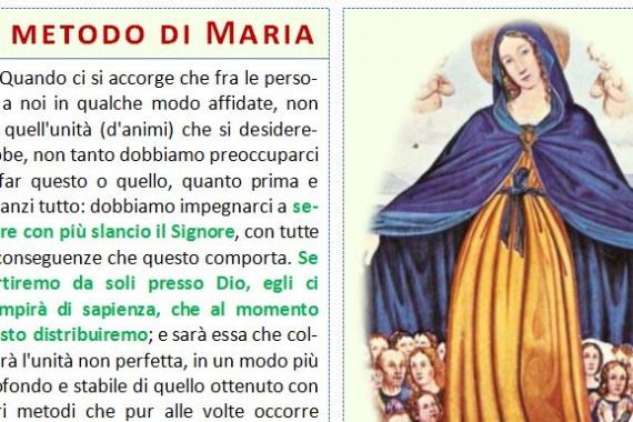 24.09.2017 – 25^ del Tempo Ordinario: Il metodo di Maria