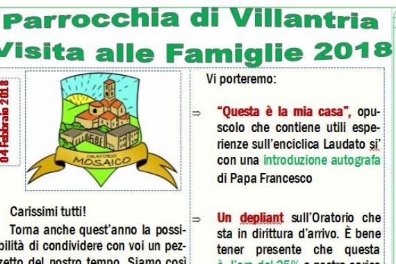Lettera alle famiglie in occasione della Visita Pasquale annuale