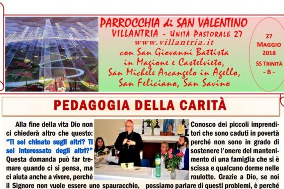 27.05.2018 – SS Trinità: Settimanale da consultare e stampare