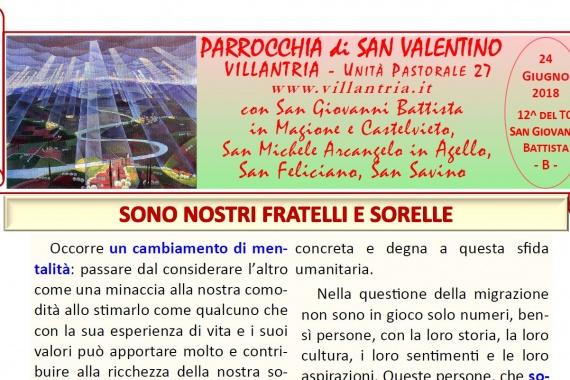 24.06.2018 – 12 ^ Tempo Ordinario – San Giovanni Battista: Settimanale da consultare e stampare