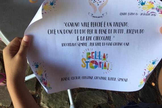 Centro estivo 15-26 Luglio 2019: Fai di ogni giorno … una Bella Storia!