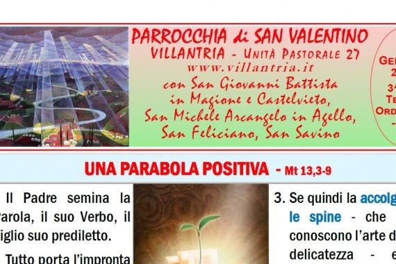 26.01.2020 – 3^ del Tempo Ordinario: Settimanale da consultare e stampare