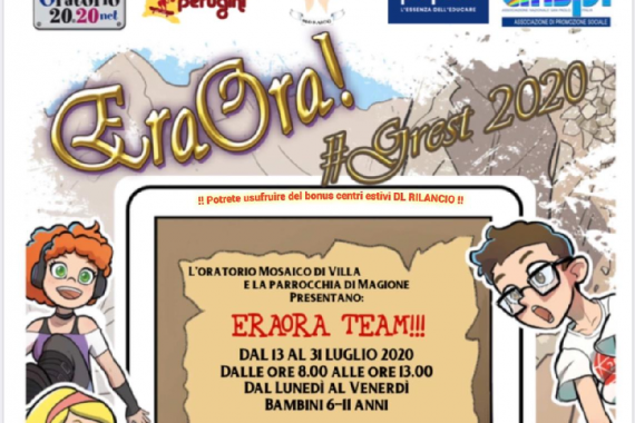 12.07.2020 – 15^ Tempo Ordinario: ERA ORA TEAM!!!