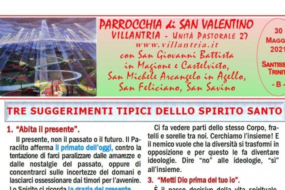 30.05.2021 – Santissima Trinità: Settimanale da consultare e stampare
