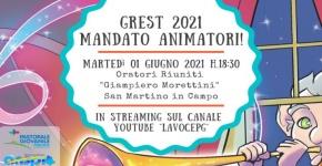 Grest 2021 Mandato animatori