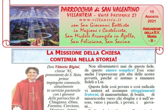15.08.2021 – Assunzione della B.V. Maria: Settimanale da consultare e stampare