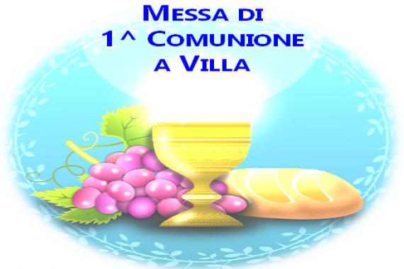 19.09.2021 – 25 T.O.: MESSA DI 1^ COMUNIONE A VILLA