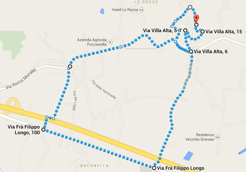 percorso processione mappa